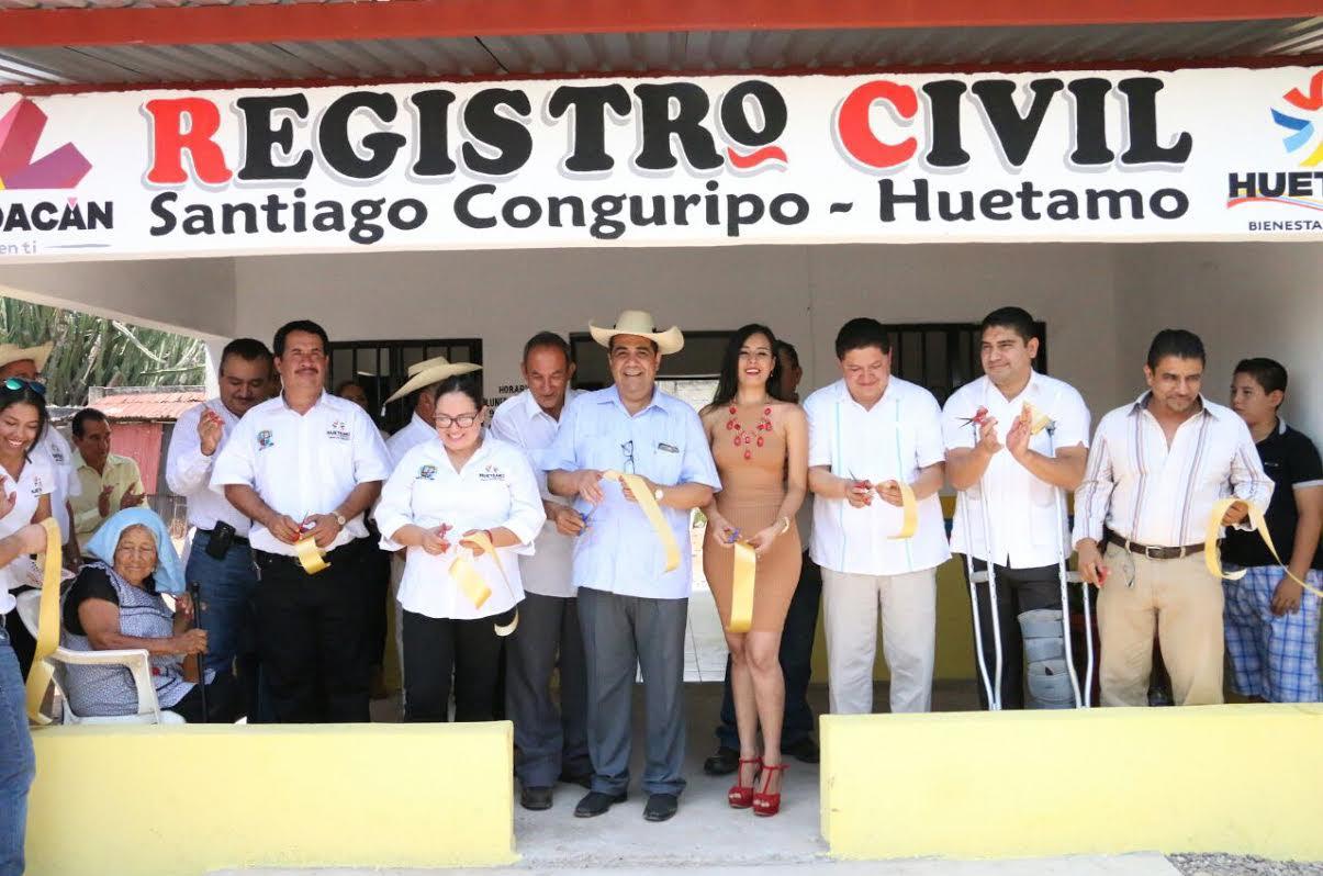Inaugura alcalde oficinas del registro civil en huetamo for Oficinas registro civil