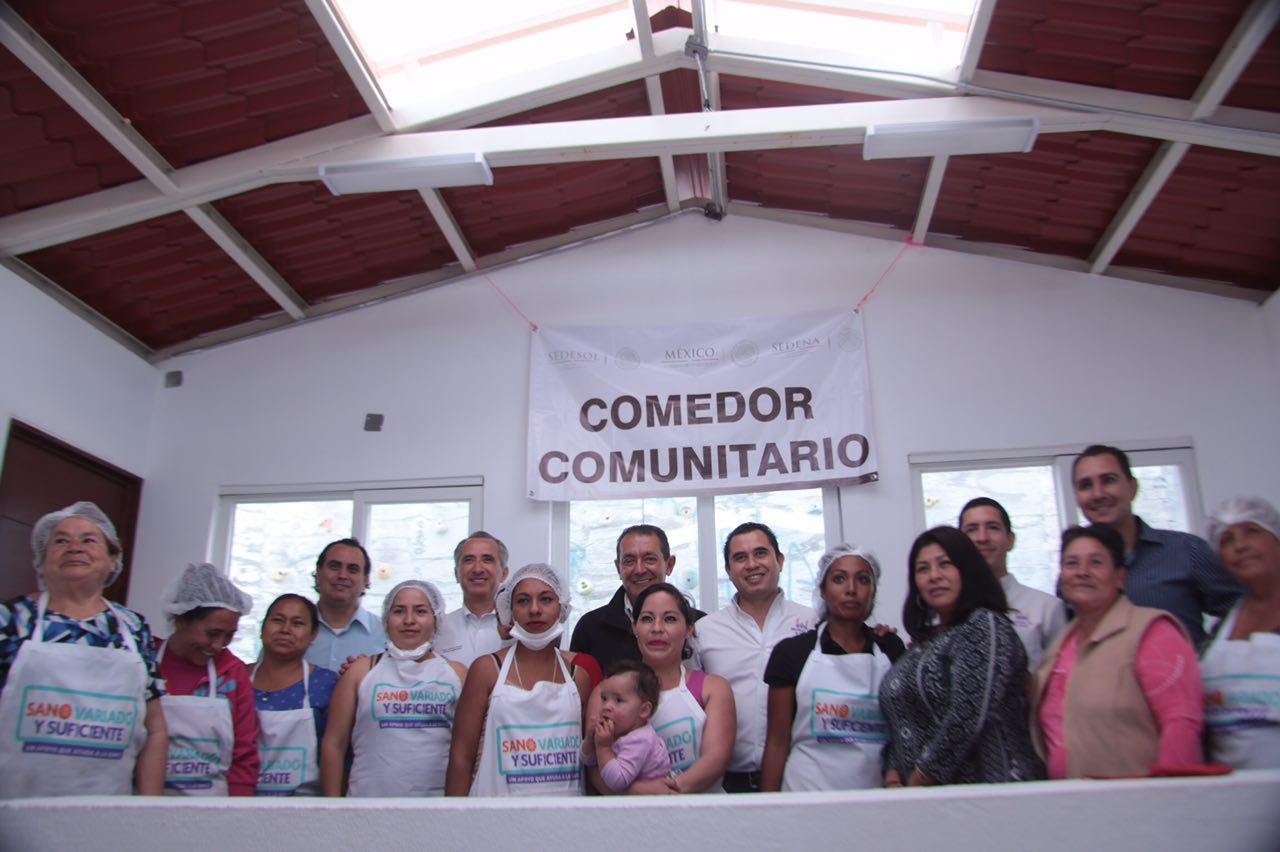 Inauguran comedor comunitario en morelia quadrat n michoac n for Proyecto de comedor comunitario