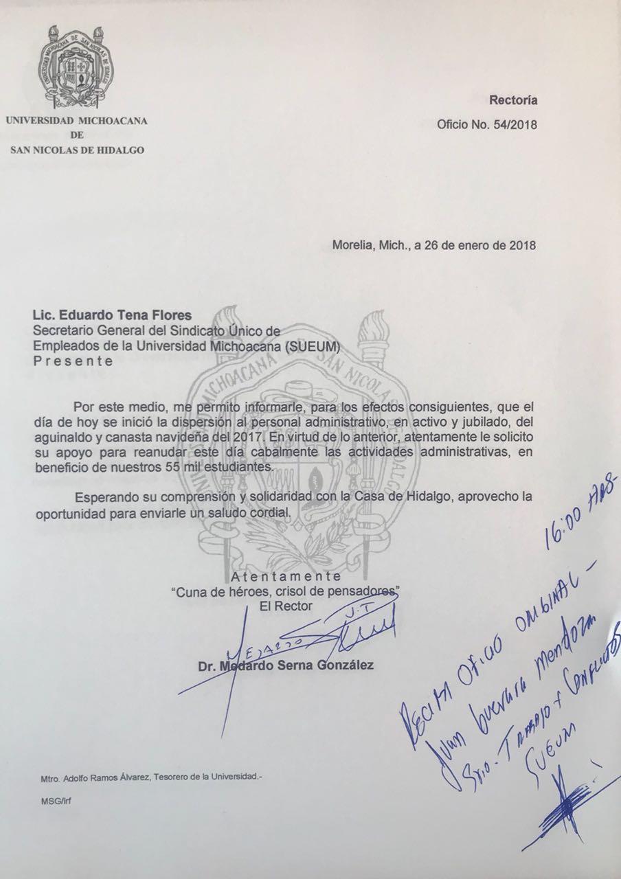 Deposita UMSNH pagos pendientes a SUEUM; pide reanudar actividades ...