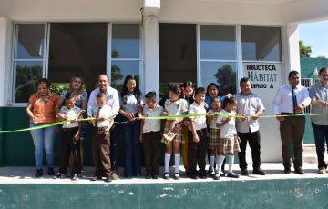 Reabren biblioteca en Las Guacamayas, LC - Quadratín Michoacán