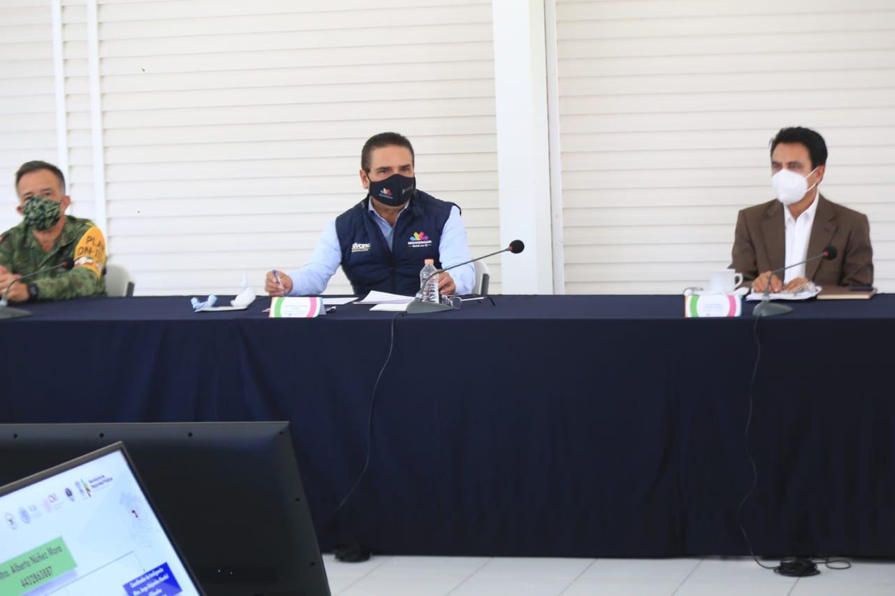 Acuerdan operación conjunta en Michoacán para fortalecer seguridad -  Quadratín